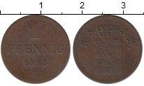 Изображение Монеты Германия Саксен-Майнинген 1 пфенниг 1855 Медь XF