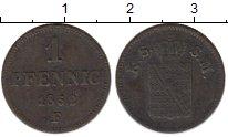 Изображение Монеты Саксен-Майнинген 1 пфенниг 1852 Медь XF