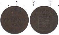 Изображение Монеты Германия Саксен-Майнинген 1 пфенниг 1843 Медь XF