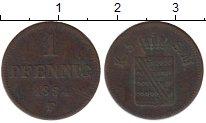 Изображение Монеты Саксен-Майнинген 1 пфенниг 1854 Медь VF