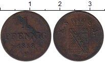 Изображение Монеты Саксен-Майнинген 1 пфенниг 1853 Медь XF