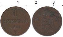 Изображение Монеты Саксен-Майнинген 1 пфенниг 1855 Медь VF