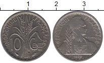 Изображение Монеты Индокитай 10 центов 1939 Медно-никель XF Французский протекто