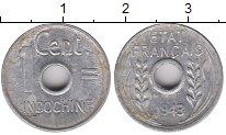 Изображение Монеты Индокитай 1 цент 1943 Алюминий XF