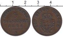 Изображение Монеты Пруссия 3 пфеннига 1864 Медь XF