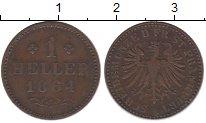 Изображение Монеты Франкфурт 1 хеллер 1864 Медь XF