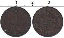 Изображение Монеты Саксония 2 пфеннига 1864 Медь XF-