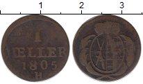 Изображение Монеты Саксония 1 хеллер 1805 Медь VF