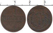 Изображение Монеты Германия Саксония 1 хеллер 1799 Медь XF