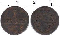 Изображение Монеты Германия Саксония 1 хеллер 1778 Медь VF