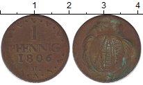 Изображение Монеты Саксония 1 пфенниг 1806 Медь VF