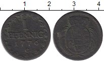 Изображение Монеты Саксония 1 пфенниг 1776 Медь VF