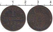 Изображение Монеты Саксония 1 пфенниг 1772 Медь VF