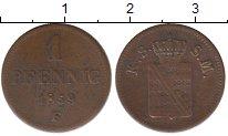 Изображение Монеты Германия Саксония 1 пфенниг 1859 Медь VF