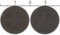 Изображение Монеты Саксония 2 пфеннига 1869 Медь XF