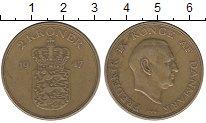 Изображение Монеты Дания 2 кроны 1947 Латунь XF