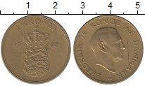 Изображение Монеты Дания 1 крона 1948 Латунь XF