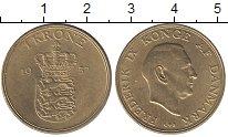 Изображение Монеты Дания 1 крона 1957 Латунь UNC-