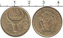 Изображение Монеты Мадагаскар 10 франков 1989 Латунь UNC-