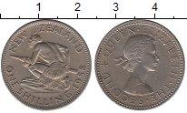 Изображение Монеты Новая Зеландия 1 шиллинг 1958 Медно-никель UNC