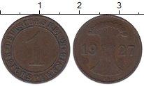 Изображение Монеты Веймарская республика 1 пфенниг 1927 Бронза XF G
