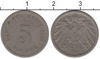Изображение Монеты Германия 5 пфеннигов 1899 Медно-никель XF