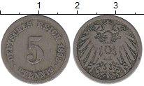 Изображение Монеты Германия 5 пфеннигов 1892 Медно-никель VF
