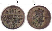 Изображение Монеты Мекленбург-Шверин 3 пфеннига 1791 Серебро VF Фридрих Франц I