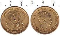 Изображение Монеты Дания 20 крон 2013 Латунь UNC- Маргрете II.  Нильс