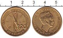 Изображение Монеты Дания 20 крон 2013 Латунь UNC- Маргрете II.  Ханс