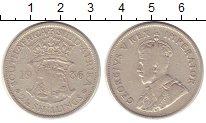 Изображение Монеты ЮАР 2 1/2 шиллинга 1936 Серебро VF