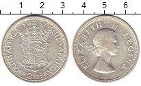 Изображение Монеты ЮАР 2 1/2 шиллинга 1957 Серебро XF