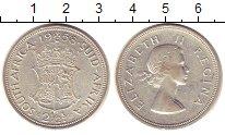 Изображение Монеты ЮАР 2 1/2 шиллинга 1958 Серебро XF