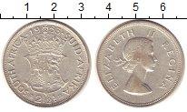 Изображение Монеты ЮАР 2 1/2 шиллинга 1953 Серебро XF