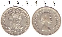 Изображение Монеты ЮАР 2 1/2 шиллинга 1954 Серебро XF