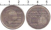 Изображение Монеты Аруба 1 флорин 2005 Медно-никель XF