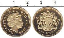 Изображение Монеты Великобритания 1 фунт 2008 Латунь Proof-