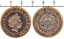 Изображение Монеты Великобритания 2 фунта 2008 Биметалл Proof-