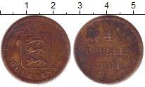Изображение Монеты Гернси 4 дубля 1864 Медь VF