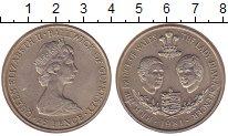 Изображение Монеты Гернси 25 пенсов 1981 Медно-никель XF Свадьба Чарльза и Ди