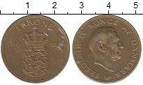 Изображение Монеты Дания 1 крона 1958 Латунь XF