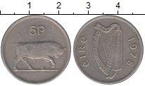 Изображение Монеты Ирландия 5 пенсов 1978 Медно-никель XF