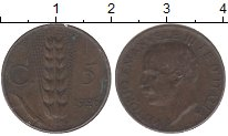 Изображение Монеты Италия 10 сентесим 1926 Бронза XF