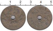 Изображение Монеты Испания 25 сентимо 1927 Медно-никель XF- Герб