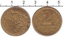 Изображение Монеты Бразилия 2 крузейро 1953 Латунь XF