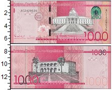 Изображение Боны Доминиканская республика 1000 песо  2014  UNC