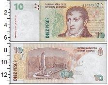 Изображение Банкноты Аргентина 10 песо 0  UNC Портрет Сантьяго Дер
