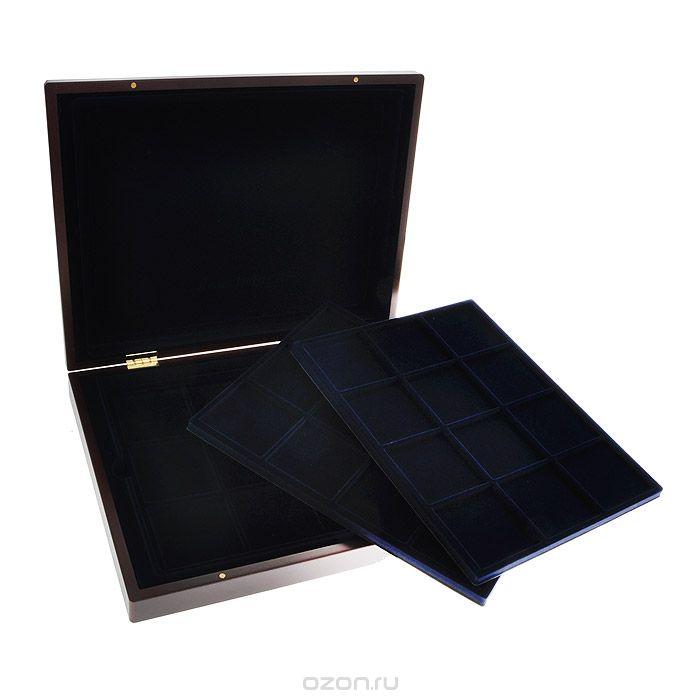 Картинка Аксессуары для монет Кейсы Деревянный кейс для монет MK 3T12BL  0