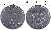 Изображение Монеты Бразилия 10 крузейро 1988 Железо XF