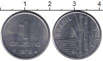Изображение Монеты Бразилия 1 крузейро 1979 Железо UNC